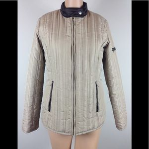 Weather Tamer Beige Puffer Jacket Lightweight Sz S